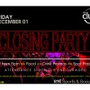 Club Closing Party – Friday 1st December