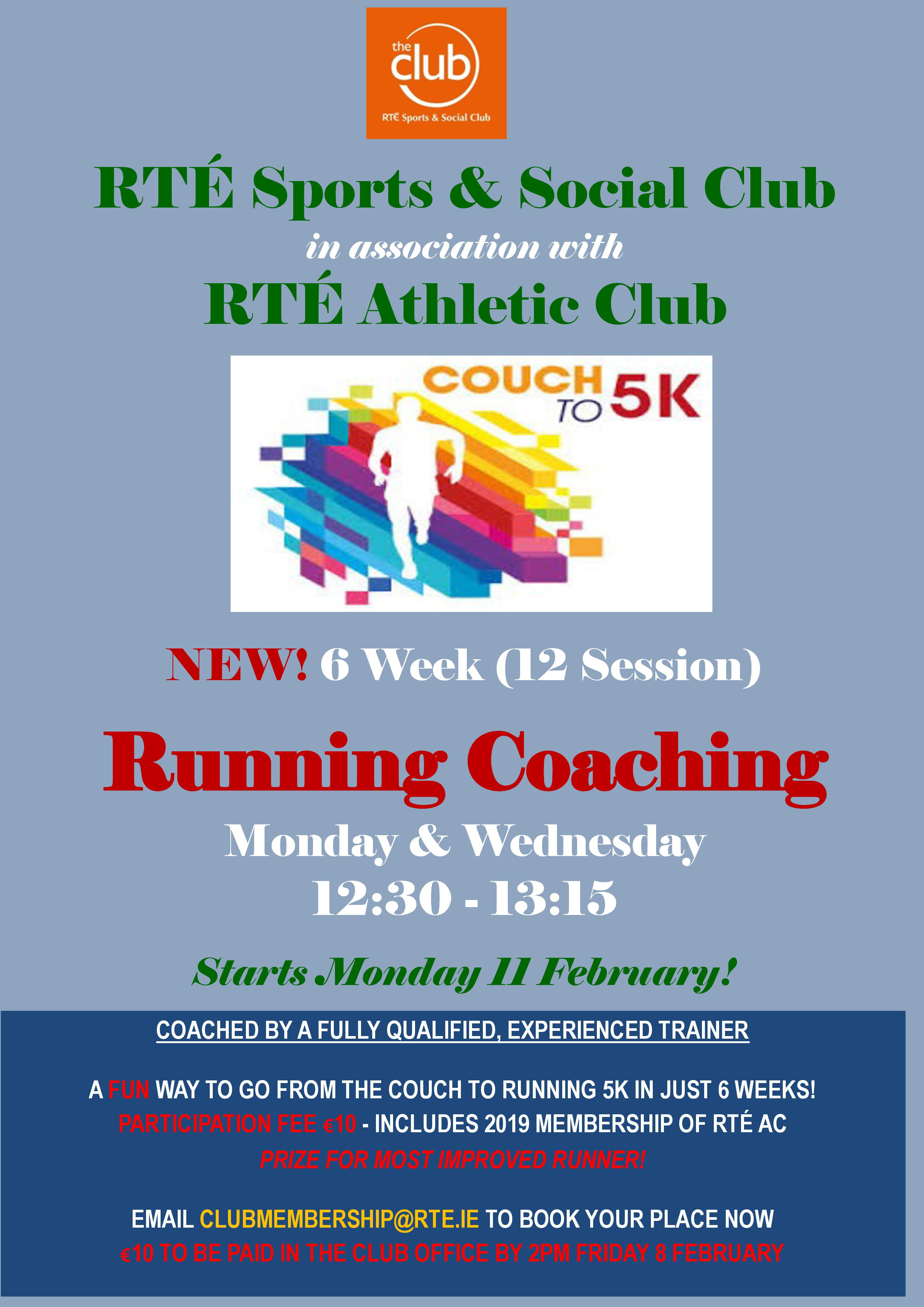 Couch 5k Running Coaching Rte Sports Social Club